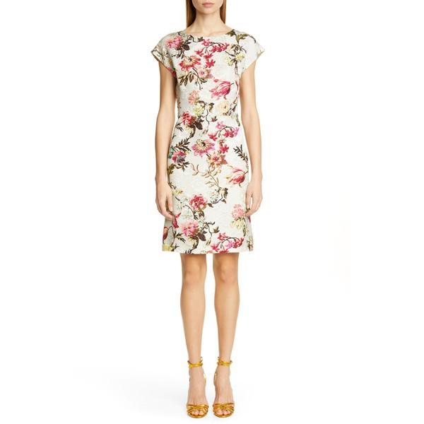 上質で快適 Floral ワンピース Dress エトロ レディース White Etro Jacquard トップス Sheath-スーツ