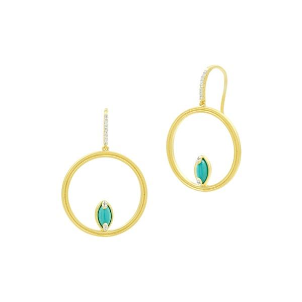 激安な フリーダ・ロスマン レディース FREIDA ピアス&イヤリング Hoop アクセサリー FREIDA Gold/ ROTHMAN Fleur Bloom Empire Turquoise Hoop Earrings Gold/ Wh, SAKURA STORE:d9d9d976 --- kzdic.de