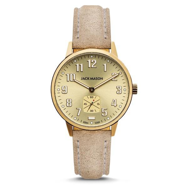豪華で新しい Strap 腕時計 Second Light Leather Jack Grey Watch, Field Sub アクセサリー Tan/ Mason 38mm メンズ ジャックメゾン-その他腕時計