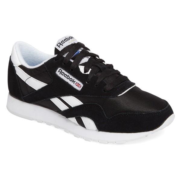 reebok classic black and white