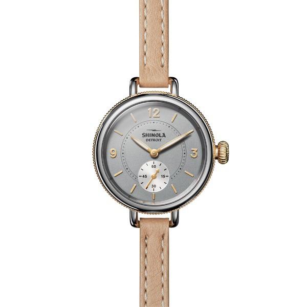 人気定番 Tan/ Grey/ The Strap レディース Gold 腕時計 シャイノーラ アクセサリー Leather Birdy 34mm Shinola Watch,-その他腕時計
