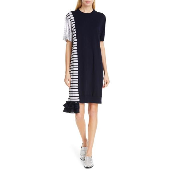 大人気新品 クリュー レディース ワンピース Ruffle トップス レディース Clu Asymmetrical Ruffle Hem Dress Dress Navy, 【同梱不可】:92222cbd --- kzdic.de