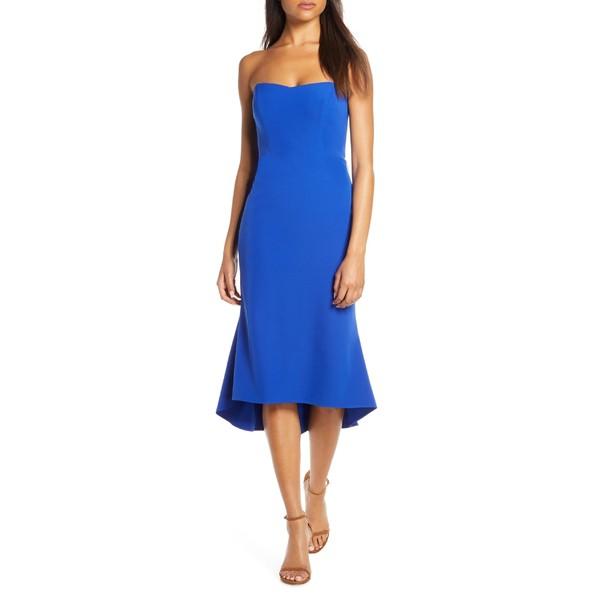 【お取り寄せ】 ヴィンスカムート レディース Dress ワンピース Strapless トップス Vince Camuto Strapless Fishtail レディース Dress Cobalt, ベースボールプラザ:88556188 --- chevron9.de