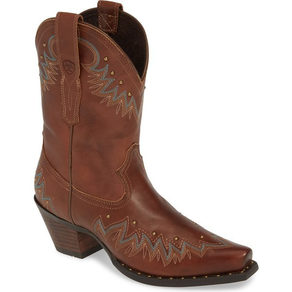 熱い販売 アリアト レディース ブーツ&レインブーツ シューズ Ariat Potrero Western Boot (Women) Antique Nutmeg Leather, SENEN ZAKKA aa51db9a