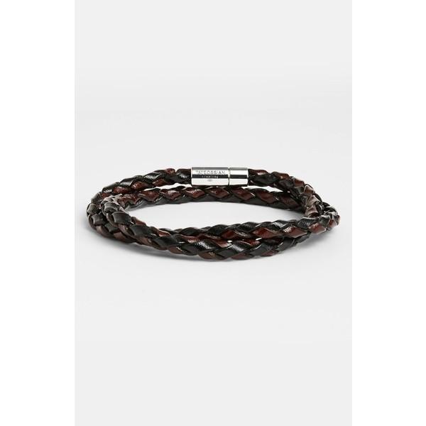 偉大な タテオシアン メンズ ブレスレット メンズ Leather・バングル・アンクレット アクセサリー Tateossian 'Pop' Bracelet Leather Bracelet Brown, 白衣 事務服 マルゼンユニフォーム:de65d8b1 --- oeko-landbau-beratung.de
