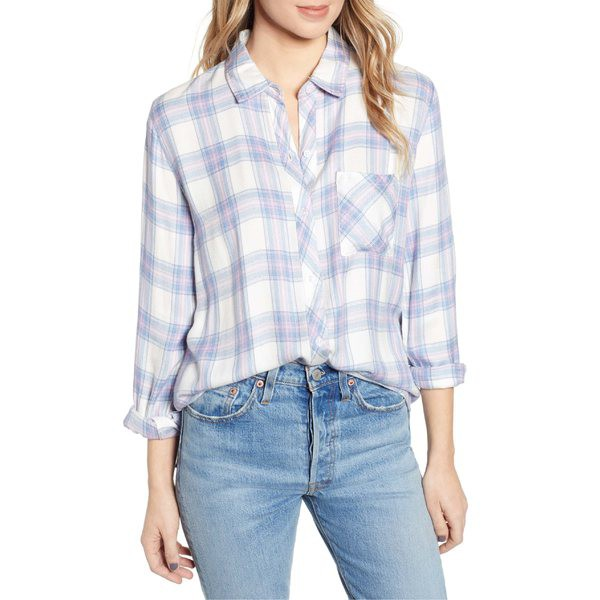 【超安い】 レイルズ レディース シャツ トップス Rails Lavender Hunter レディース Plaid Shirt Plaid White Lavender Blue, 【靴下のアンフィニ】:36c77b35 --- buergerverein-machern-mitte.de