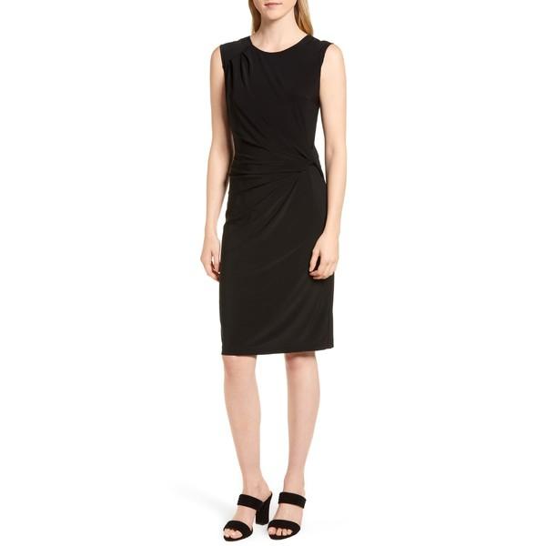 [宅送] ニックプラスゾーイ レディース ワンピース トップス NIC+ZOE Twist Side Matte Jersey Dress Black Onyx, きもの処 紅葉堂 68bc44b1