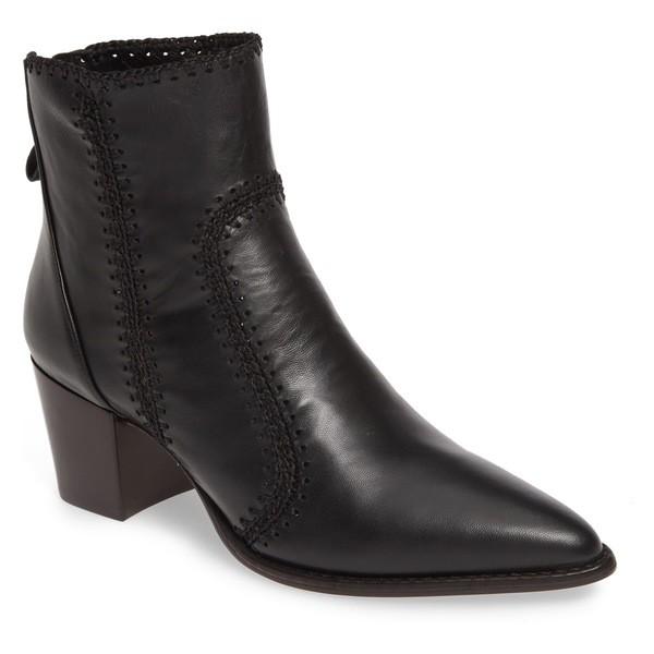 【テレビで話題】 Bootie Alexandre (Women) Pieced Leather ブーツ&レインブーツ Birman Black Benta アレクサンドラバードマン レディース シューズ-靴・シューズ