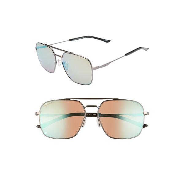 【限定セール!】 スミス レディース サングラス スミス&アイウェア Sunglasses アクセサリー Smith Dark Double Down 58mm ChromaPop Navigator Sunglasses Dark Ruthenium/ Blue, 古志郡:6272b32c --- zafh-spantec.de