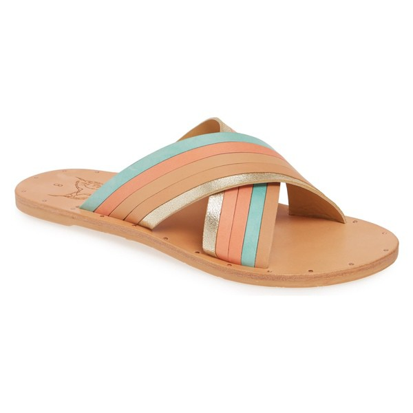夏セール開催中 MAX80%OFF! ビーク レディース サンダル シューズ Beek シューズ Palila Beek Crisscross Slide レディース Sandal (Women) Multi Pastel/ Natural, 美想心花:3ea43210 --- 1gc.de