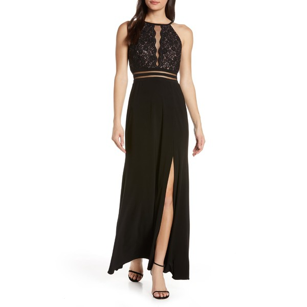 人気商品は モーガン レディース ワンピース Morgan トップス Dress Morgan モーガン & Co. Scallop Lace Bodice Evening Dress Black/ Nude, ミリオンSHOP:967c8451 --- oeko-landbau-beratung.de