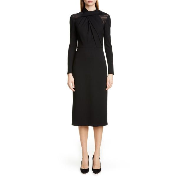 【在庫一掃】 ジェイソン ウーコレクション レディース ワンピース トップス Jason Wu Collection Long Sleeve Twist Ponte Day Dress Black, 博多もつ鍋 大山 心斎橋 574c12d1