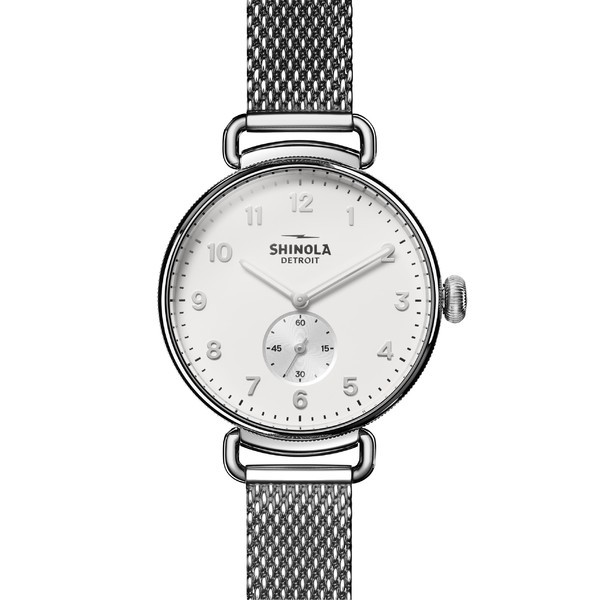 【在庫処分大特価!!】 シャイノーラ レディース 腕時計 アクセサリー 腕時計 Shinola The Strap Canfield Mesh Strap レディース Watch, 38mm Silver/ Alabaster/ Silver, 戸田市:619c90ef --- chevron9.de