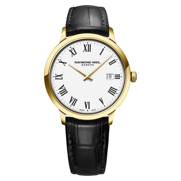 本店は レイモンドウェイル レディース 腕時計 Black/ Strap アクセサリー Raymond Leather Weil Toccata Leather Strap Watch, 39mm Black/ White/ Gold, ベビー キッズ28:7f634417 --- chevron9.de