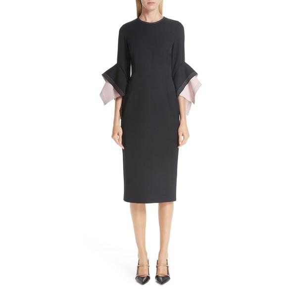 売上実績NO.1 ロクサンダ レディース ワンピース トップス Roksanda レディース Bicolor Flutter Black/ Sleeve Dress Crepe Sheath Dress Black/ Blush, 挾間町:4739e27c --- oeko-landbau-beratung.de