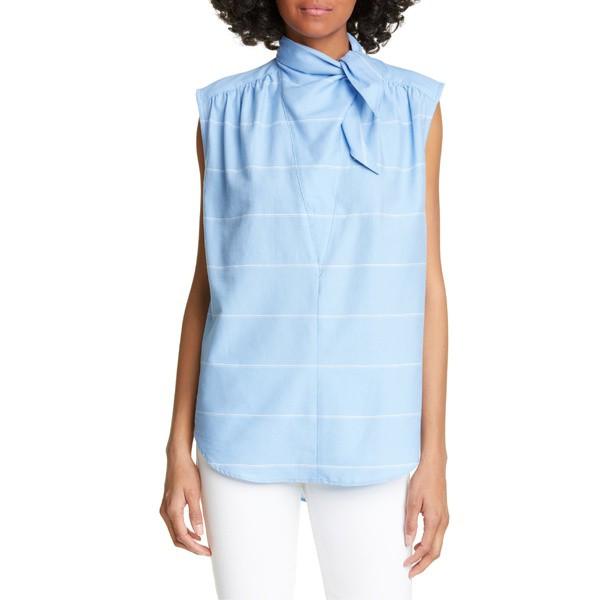 贈り物 スミス レディース カットソー トップス Smythe Bandana Neck Shirt French Blue, リサイクル&リユース ユリイカ 30888770