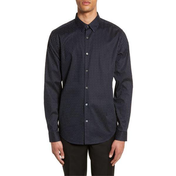 【祝開店!大放出セール開催中】 メンズ Sport Shirt Fit Print シャツ Theory Dot Multi セオリー Irving トップス Slim Eclipse-トップス