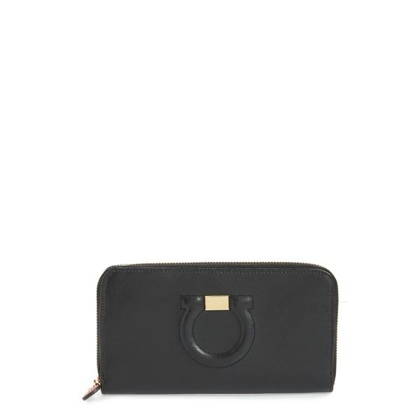 本物保証!  サルヴァトーレ フェラガモ レディース 財布 Leather アクセサリー Salvatore Ferragamo Around Ferragamo Quilted Gancio Leather Zip Around Wallet Black, 収納家具のイーユニット:642d2349 --- stunset.de