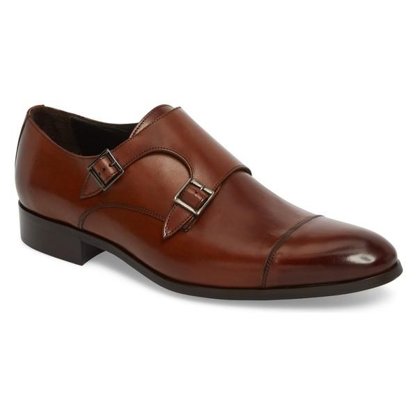 【有名人芸能人】 トゥーブート メンズ スリッポン・ローファー シューズ To Boot New York Bankston Cap Toe Double Strap Monk Shoe (Men) Brown Leather, コシジマチ b6381fb4