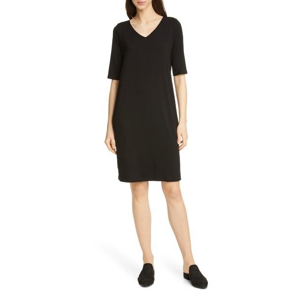 【オープニング 大放出セール】 エイリーンフィッシャー レディース レディース (Regular ワンピース トップス Eileen Fisher Stretch Tencel Lyocell Lyocell Shift Dress (Regular & Petite) Black, sunny days:e818e409 --- chevron9.de