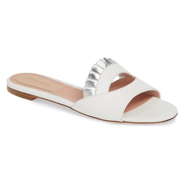 【メール便不可】 ダリアセルバ レディース Selva Sandal サンダル シューズ シューズ Dahlia Selva Gulity Pleat Slide Sandal (Women) White, 和歌山県:6c18a32e --- chevron9.de