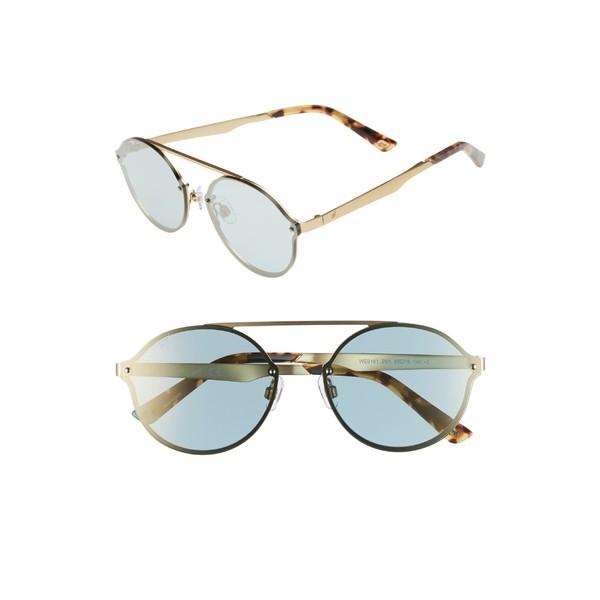 美品  ウェブ レディース サングラス&アイウェア アクセサリー Web 58mm Round Sunglasses Gold/ Blue, ミツキ 18970395