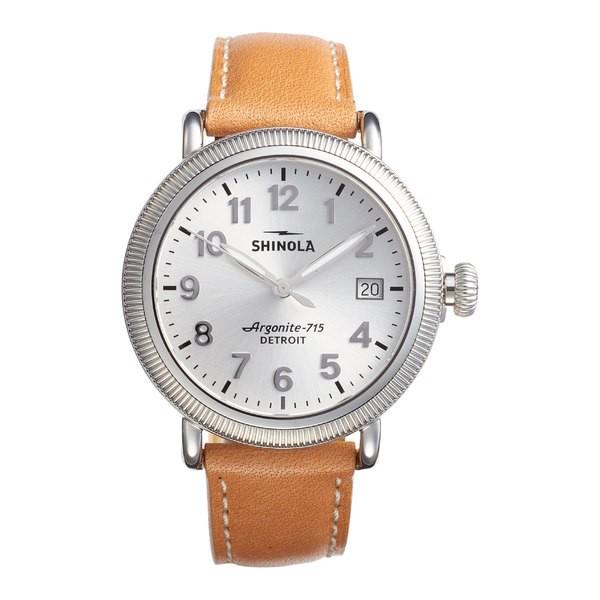 人気ブランド シャイノーラ レディース レディース 腕時計 アクセサリー Shinola The Runwell Leather Runwell アクセサリー Strap Watch, 38mm Aniline Latigo/ Silver, 北房町:307f0646 --- chevron9.de