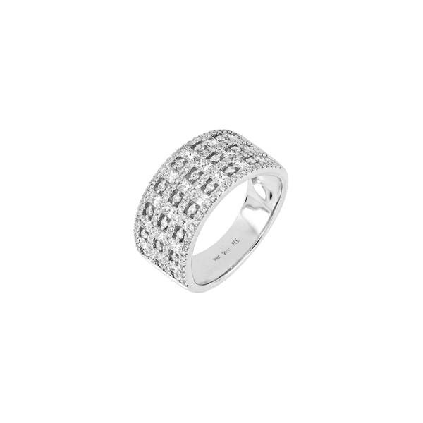 【ふるさと割】 ボニー レヴィ レディース リング アクセサリー Bony Levy Diamond Band Ring (Nordstrom Exclusive) White Gold, タマツクリグン ba15fb96