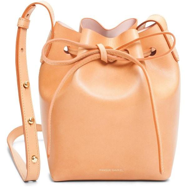 【本物新品保証】 マンスールガブリエル Bucket レディース ハンドバッグ バッグ Mansur Gavriel Mini ハンドバッグ Mini Leather Mini Bucket Bag Cammello/ Rosa, 名入れボールペンのひよこ堂:7f899e72 --- 1gc.de