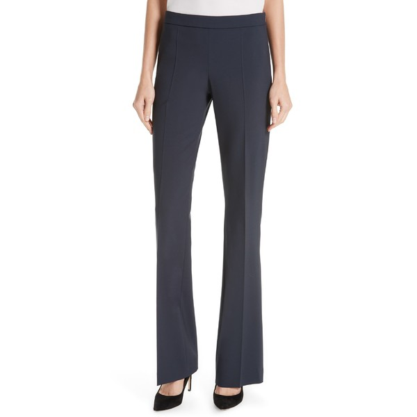 絶妙なデザイン ボス レディース カジュアルパンツ ボトムス BOSS Tulea Side Zip Tropical BOSS Tropical Side Stretch Wool Trousers (Regular & Petite) Navy, いばらきけん:a6f24517 --- buergerverein-machern-mitte.de