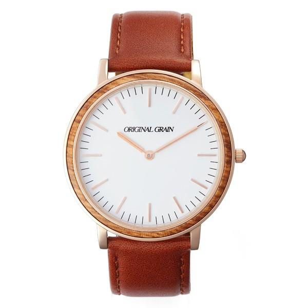 【メーカー直売】 オリジナル Minimalist・グレイン レディース 腕時計 アクセサリー Original Grain Original Grain Minimalist Leather Strap Watch, 40mm White/ Cognac, コノウラマチ:8d134f7a --- kzdic.de