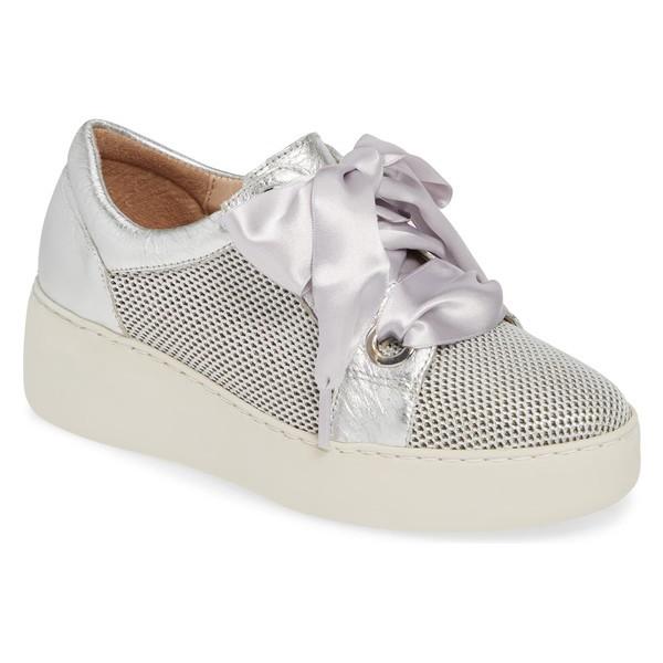 最初の  ワンダーズ レディース スニーカー シューズ Wonders Platform Sneaker (Women) Silver Leather, 5本指セレクトショップ 靴下小町 e720629e