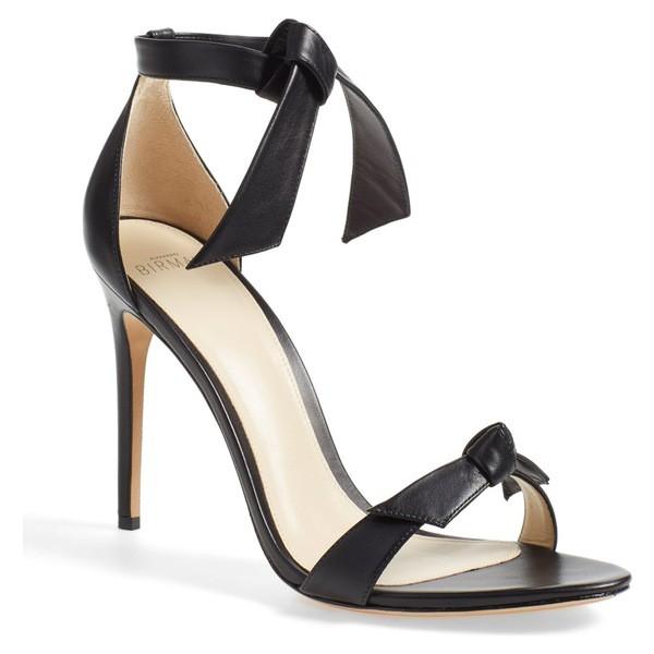 【楽ギフ_包装】 アレクサンドラバードマン レディース Tie (Women) サンダル Sandal シューズ Alexandre Birman 'Clarita' Ankle Tie Sandal (Women) Black Leather, 旭区:7acb512d --- chevron9.de