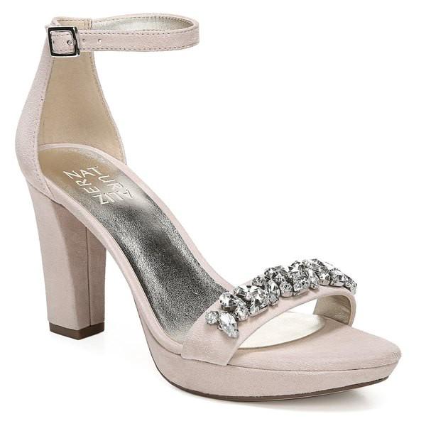 正規品 ナチュライザー Marble レディース Soft (Women) Naturalizer Suede Sandal Cassano シューズ サンダル Crystal Embellished-靴・シューズ