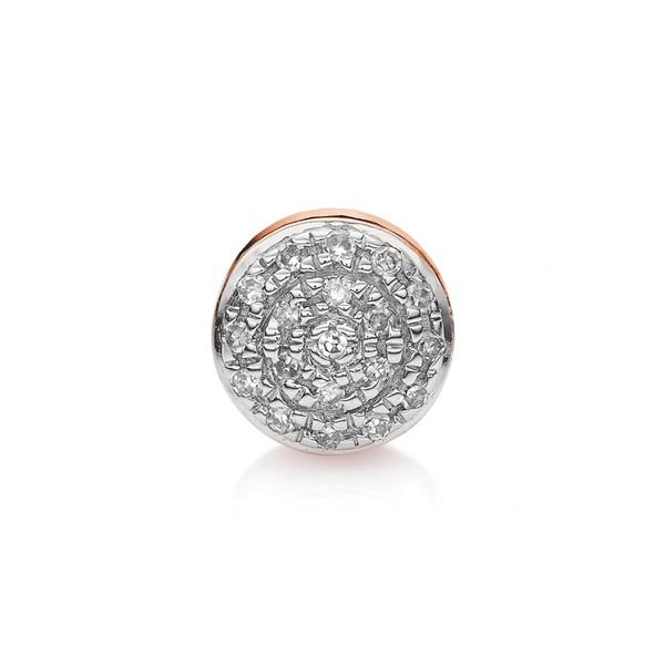 満点の モニカヴィナダー レディース ピアス&イヤリング アクセサリー アクセサリー Monica レディース Vinader Single Fiji Stud Mini Diamond Button Stud Earring Rose Gol, おやすみeマート:8bfaf1ae --- chevron9.de