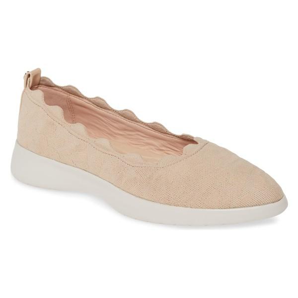 【正規取扱店】 タリンローズ レディース サンダル シューズ Taryn Rose Dasha Scallop Sock Flat (Women) Buff Fabric, ブランド古着ベクトルプレミアム店 2dd55e40