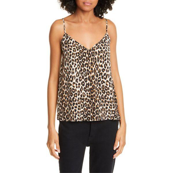 特価 エキプモン Print Camisole レディース カットソー Natural Silk トップス Equipment Layla Leopard-トップス