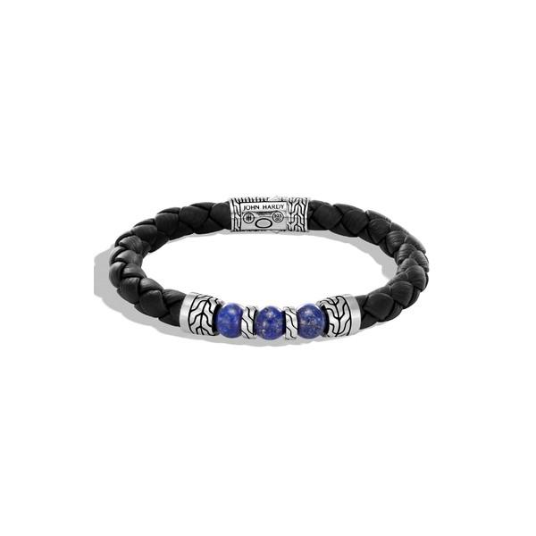 格安人気 ジョン John・ハーディー メンズ Chain ブレスレット・バングル・アンクレット アクセサリー John Hardy Classic Black Leather Classic Chain Bead Bracelet, COX ONLINE SHOP:5d615137 --- dorote.de