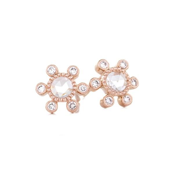 数量は多 セチクチュール レディース ピアス&イヤリング レディース Rose アクセサリー Sethi Earrings Couture Round Rose Cut Diamond Earrings Rose Gold, グラシアスジャパン:bed1666f --- paderborner-film-club.de
