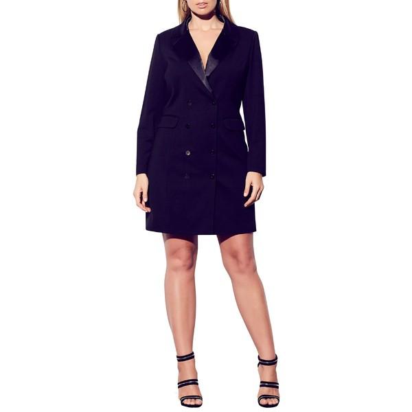 熱い販売 シティーシック レディース ワンピース トップス City Chic Tuxedo Dress (Plus Size) Black, 養老郡 b34476c0