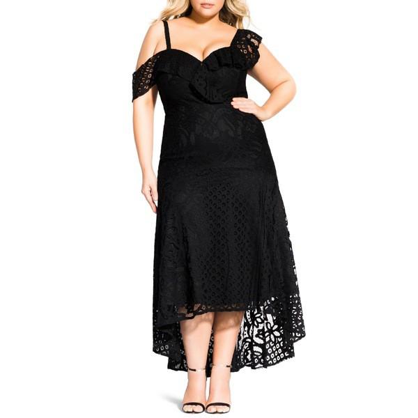 限定価格セール! シティーシック レディース ワンピース トップス City Chic Femme Fatale トップス ワンピース City Maxi Dress (Plus Size) Black, e-cargoodsミューザー:ab2afd7d --- kleinundhoessler.de