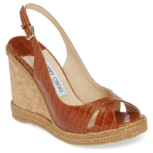 品質は非常に良い ジミーチュウ レディース サンダル シューズ Jimmy Choo シューズ Amely (Women) Slingback ジミーチュウ Wedge Sandal (Women) Brown Crocodile, クロサワ楽器 日本総本店 WEBSHOP:de3ef42e --- chevron9.de