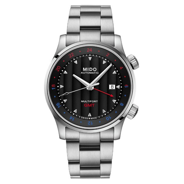 定番 腕時計 アクセサリー Silver MIDO Multifort Bracelet Automatic Black/ ミド Watch メンズ Silver/-その他腕時計