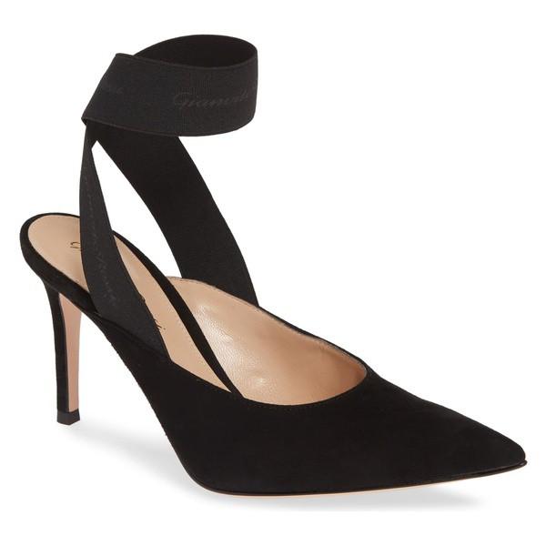 【70%OFF】 ロッシ ジャンヴィト Toe (Women) Ankle Black Gianvito Pump シューズ サンダル レディース Pointy Rossi Wrap-靴・シューズ