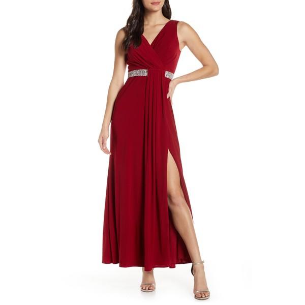 正規代理店 モーガン ワンピース レディース ワンピース トップス Morgan & Co. Gown Pleat Morgan Front Evening Gown Scarlet, TENSHODO:75c424fc --- kleinundhoessler.de