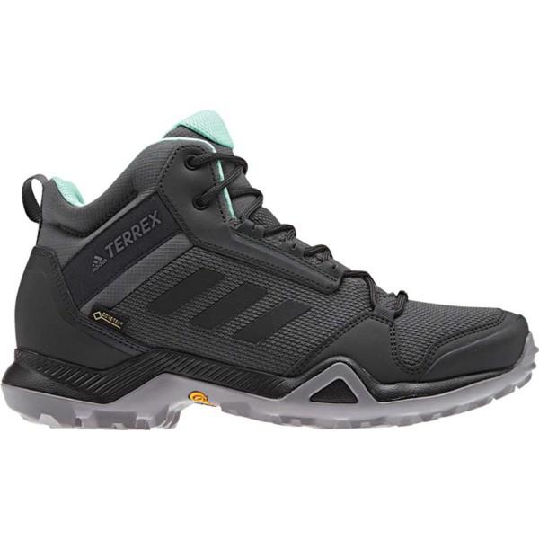 超ポイントアップ祭 アディダス レディース ブーツ&レインブーツ シューズ Terrex AX3 Mid GORE-TEX Hiking Shoe Grey Five/Black/Clear Mint, ミリタリーベース 7d4e8b93
