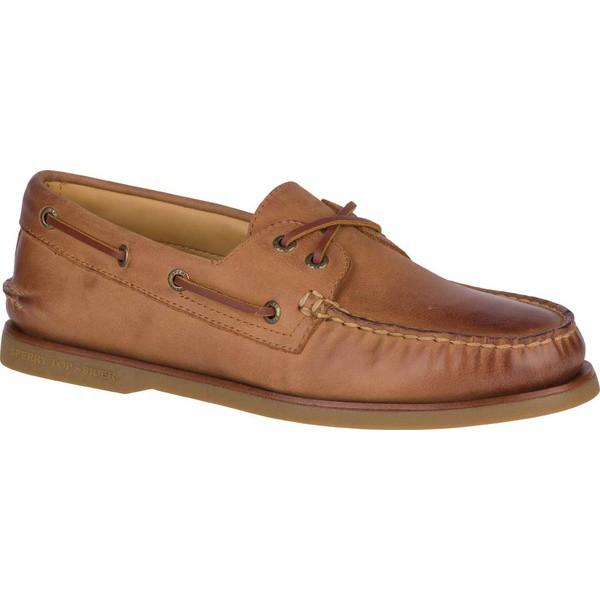 【メーカー再生品】 トップサイダー メンズ スリッポン・ローファー シューズ Gold Cup A/O 2-Eye Boat Shoe Ginger Full Grain Leather, モバラシ 2d203505