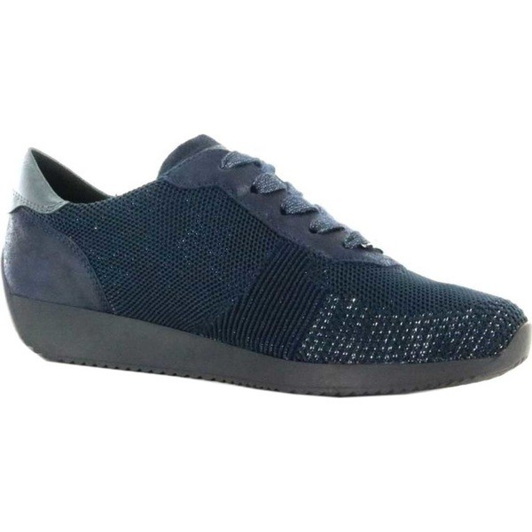 【はこぽす対応商品】 アラ レディース スニーカー シューズ Lilly 24027 Sneaker Blau Multipix Fabric, タイヤ&ホイールプラザ dff1b522