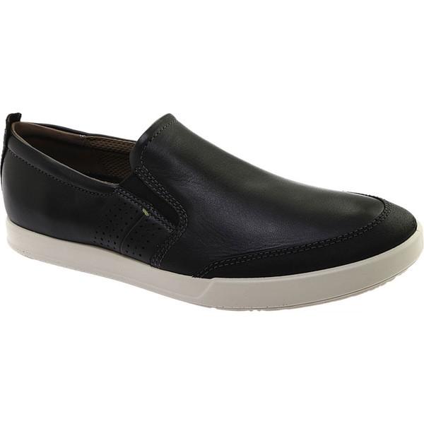 【最新入荷】 エコー メンズ スニーカー シューズ Collin 2.0 スニーカー シューズ Slip On Black 2.0/Black Distressed Leather, 信州お茶の散歩道 田畑茶舗:8238800f --- chevron9.de