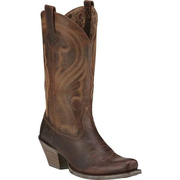 【おしゃれ】 アリアト レディース ブーツ&レインブーツ シューズ Lively Cowgirl Boot Sassy Brown Full Grain Leather, 【生活雑貨】ナチュラルスパイス 1b87c31c